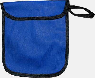 Blå Fodral för reflexvästar med reklamtryck