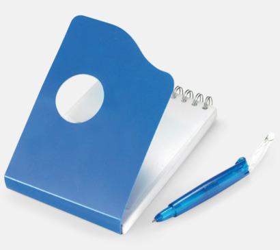 Kompakta notisblock med penna - med tryck