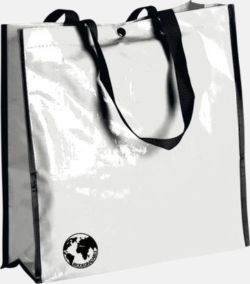 Vit Biologiskt nedbrytbara shoppingbagar med reklamtryck