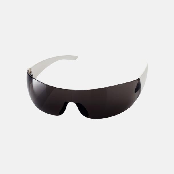 Svart / Vit Snygga UV400-solglasögon med reklamtryck