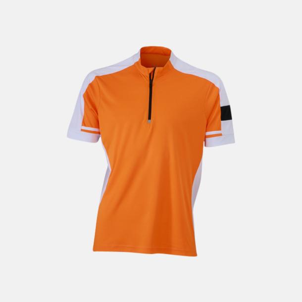 Orange (herr) Herr- och dam cykeltröjor med reklamtryck