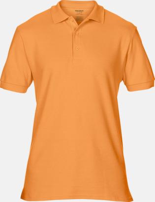 Tangerine Billiga herr bomullspikéer med tryck