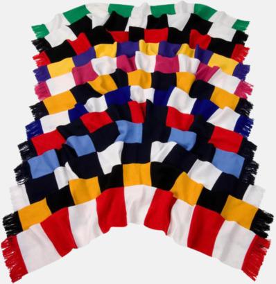 Halsdukar i olika lagfärger med egen brodyr