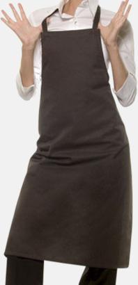 Mörkbrun (412C) Förkläden med eget tryck