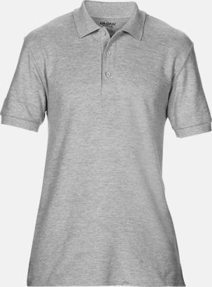 Sport Grey (heather) Billiga herr bomullspikéer med tryck