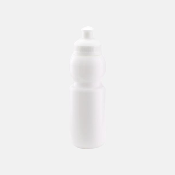 Vit (300 ml) Bulb-vattenflaskor i 4 storlekar med digitaltryck