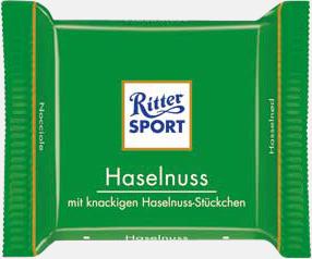 Hasselnöt Chokladrutor från Ritter med rekalmtryck