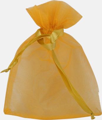 Gul (S) Färgglada presentpåsar i 4 storlekar med reklamtryck