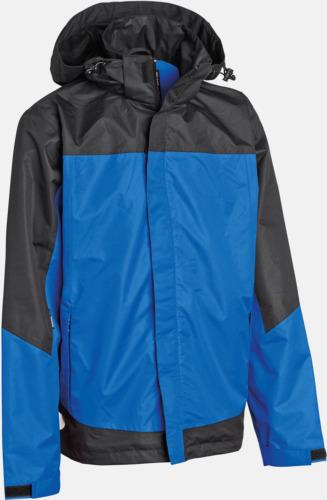 Blå (herr) Komplett regnset med reklamtryck