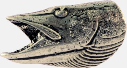 Gäddhuvud Engelska, handgjorda broscher med jaktmotiv