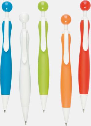 Med vita klips Billiga bläckpennor i unik design med reklamtryck