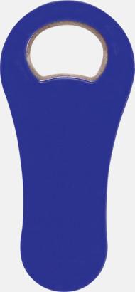 Blå Kapsylöppnare med magnet - med reklamtryck