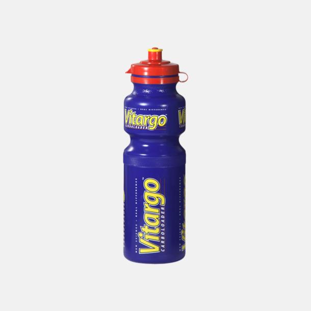 Blå Vattenflaskor i 4 storlekar med reklamtryck