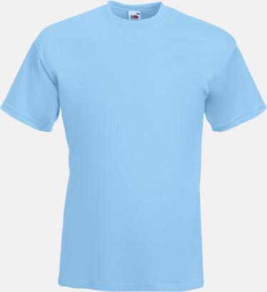 Sky Blue Kraftig t-shirt med reklamtryck
