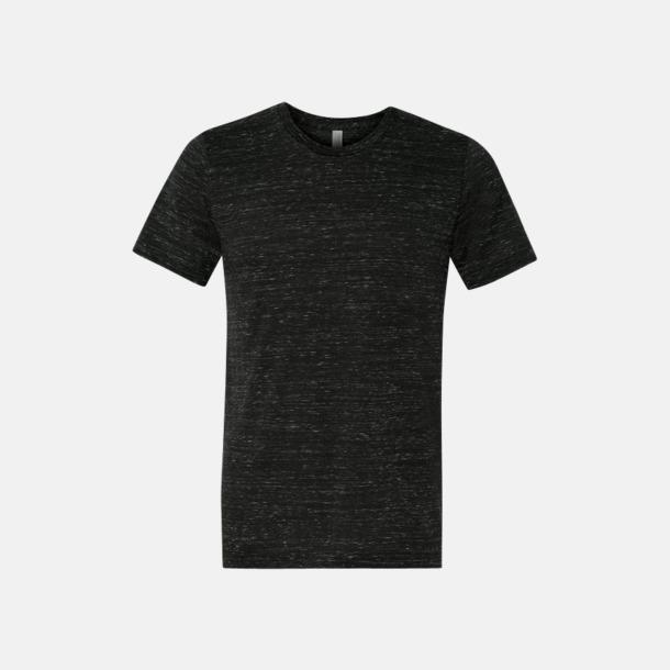 Marble Black (heather) Unisex t-shirts i spräckliga färger med reklamtryck