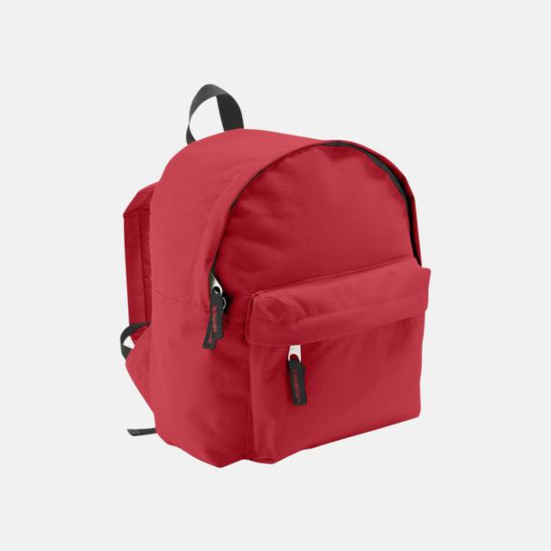 Röd Juniorryggsäckar med reklamtryck
