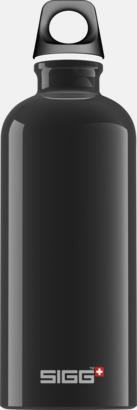 Svart (0,6 liter) Äkta SIGG-flaskor med eget tryck