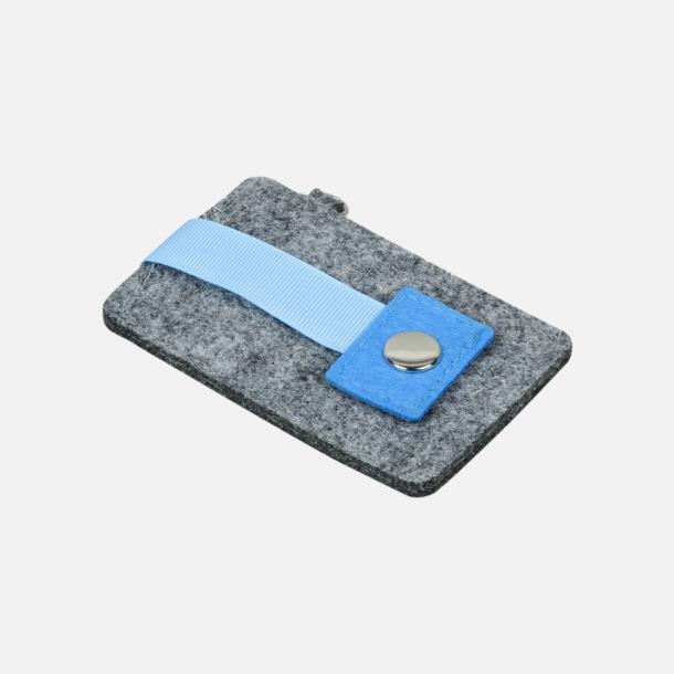 Grå/Blå Nyckelringsfoldrar i filt med reklamtryck