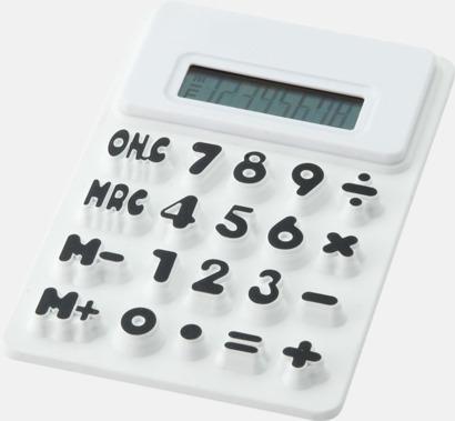 Vit Mjuka miniräknare med reklamtryck