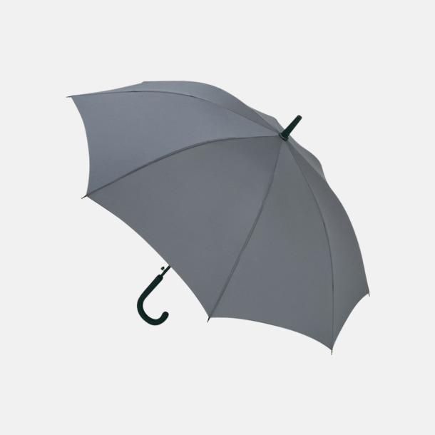 Grå Paraplyer med reklamtryck