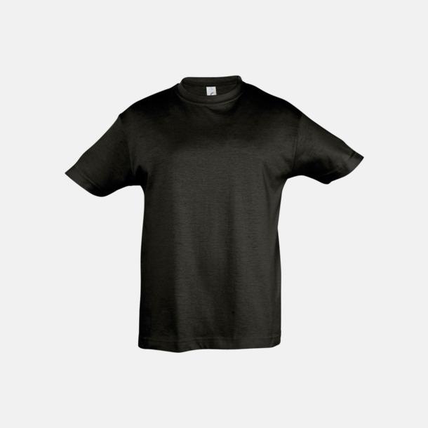 Deep Black Billig barn t-shirts i rmånga färger med reklamtryck