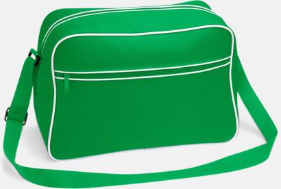 Pure Green/Vit Axelremsväska med eget reklamtryck