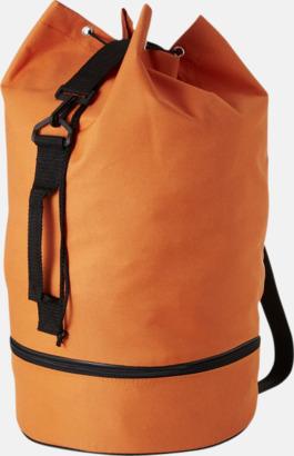 Orange Sjömansväskor i polyester med tryck