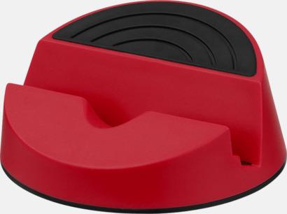 Röd / Svart Mediaställ för mobilen eller surplattan - med reklamtryck