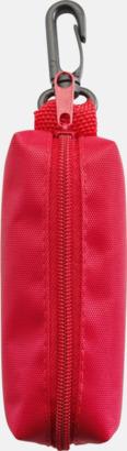Röd Pennskrin innehållande 12 tuschpennor - med reklamtryck
