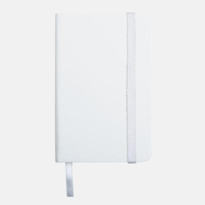 Vit anteckningsbok i konstläder i A6 format