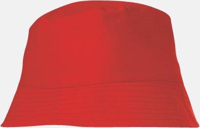 Röd Bomullshattar i enfärgade- och tvåfärgade varianter med reklamtryck