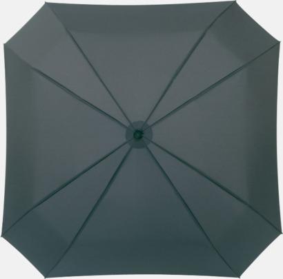 Grå Fyrkantiga kompaktparaplyer med eget tryck