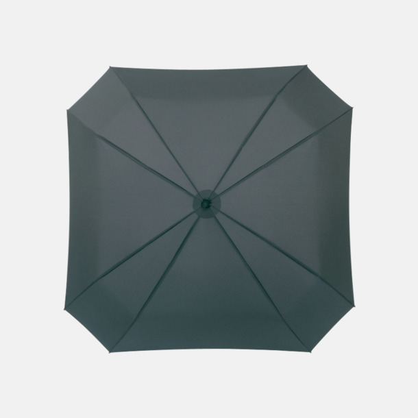 Grå Fyrkantiga kompaktparaplyer med eget reklamtryck