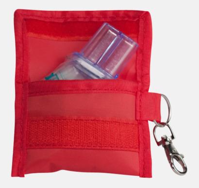 Röd Andningsmask med eget tryck