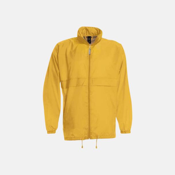 Gold (unisex) Vind- och vattentäta jackor för dam, herr och barn - med tryck