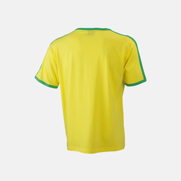 T-shirts med kontrastfärger - med reklamtryck