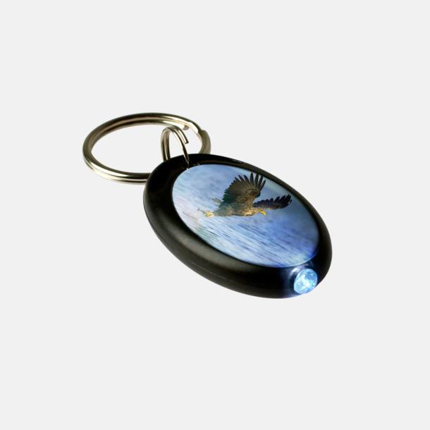 Frostad Svart Droppe - Ficklampa med nyckelring