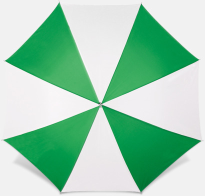 Grön / Vit Reklamparaply med tryck