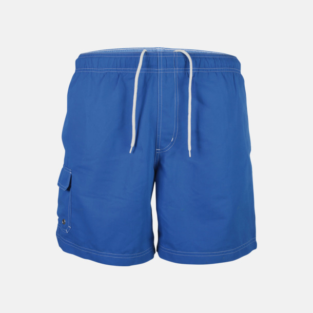 Aqua Blue Badshorts med reklamtryck