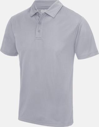 Heather Grey (solid) Färgglada pikétröjor med reklamtryck