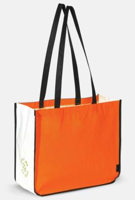 Orange Stor kasse av i återvunnet non woven-material med reklamtryck