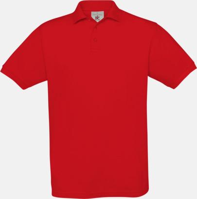 Röd Kortärmade pikétröjor med egen brodyr