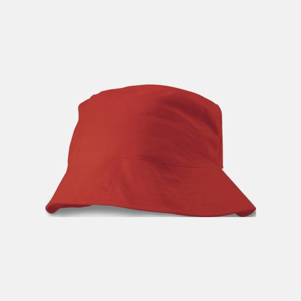 Röd Solhattar i många färger med reklamtryck