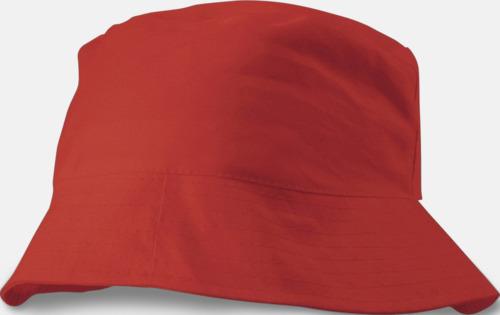 Röd Solhattar i många färger med reklamtryck 604ac438d6ea0
