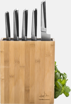 Ljust trä / Svart Knivblock för 12 knivar från Selected by Mannerström