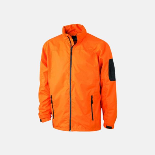 Orange/Carbon Damjacka med eget tryck