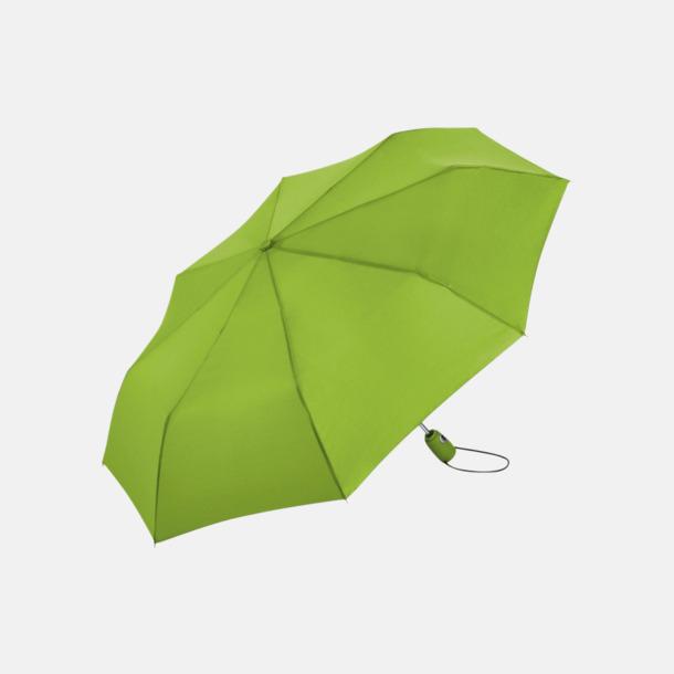 Limegrön Kompakta paraplyer med eget reklamtryck