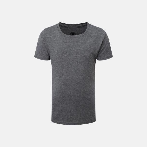 Grey Marl (flicka) Barn t-shirts i u- och v-hals med reklamtryck