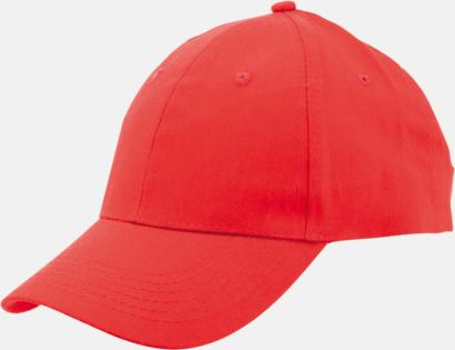 Röd Billiga bomullskepsar med reklamtryck eller -brodyr