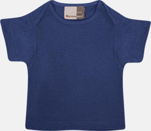 Marinblå T-shirts för de minsta barnen - med tryck